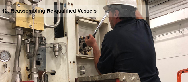 reassembling pressure vessels 12
